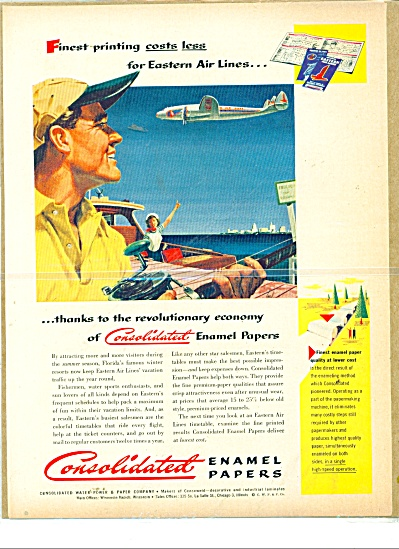 1941 Consolidated Papers Promo AD FISHING ART (Image1)