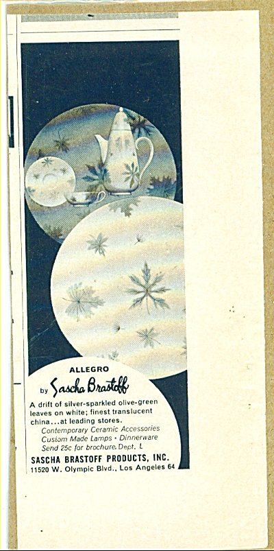 Sascha Brastoff china ad 1957 (Image1)