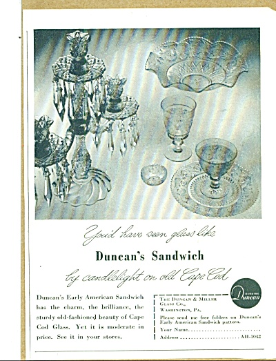 The Duncan & Miller glass co. ad 1942 (Image1)