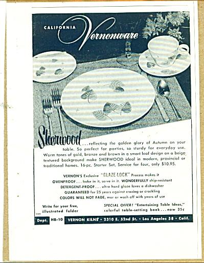 Vernon Kilns vernonware ad 1955 (Image1)