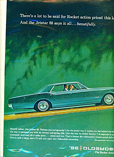 Oldsmobile rocket action 1965 ad (Image1)