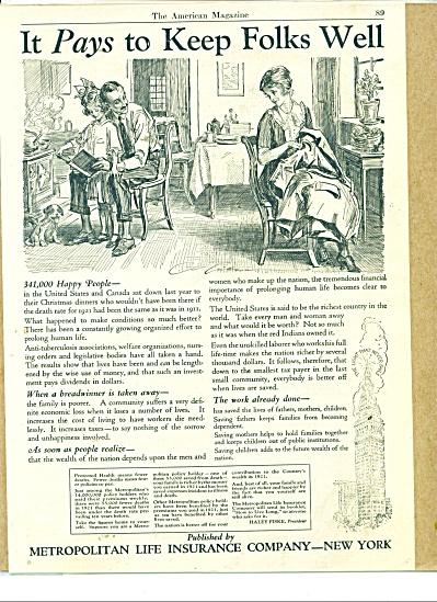 1922 Metropolitan Life AD CHARLES DANA GIBSON (Image1)