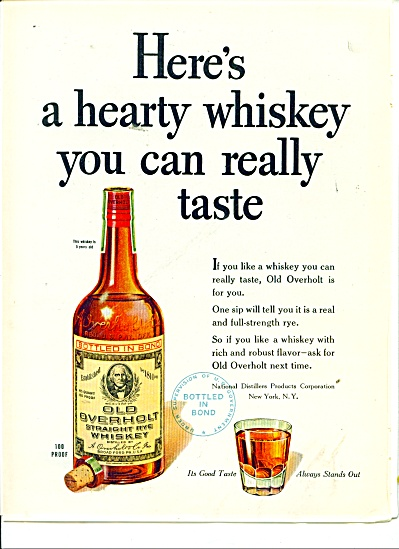 Old Overholt Straight Rye Whiskey Ad