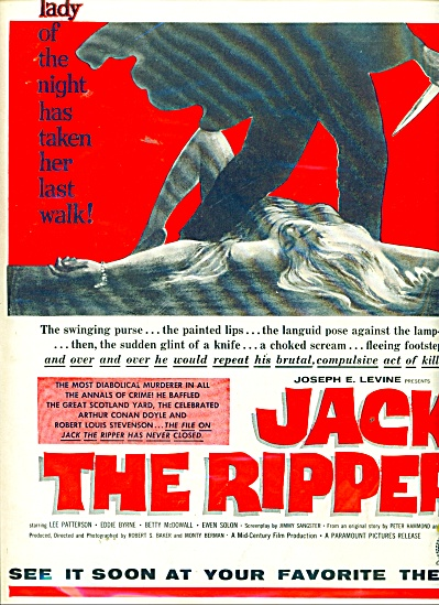 1960 Jack the Ripper movie promo ad (Image1)