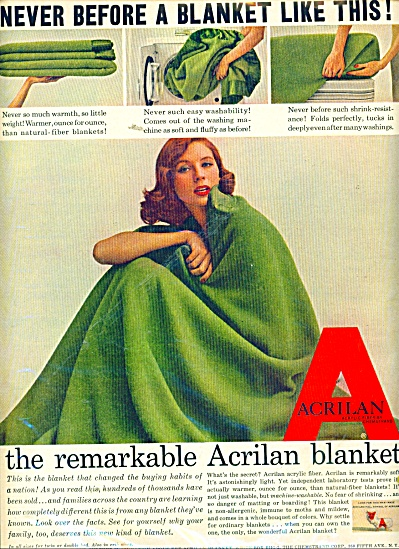 1956 ACRILAN Blanket AD Medel Wrapped (Image1)