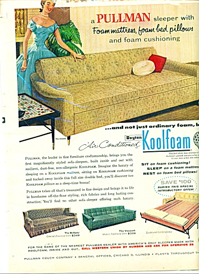 Pullman Couch Company Ad 1956
