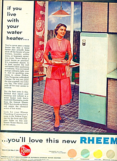 Rheem water heaters ad 1956 (Image1)