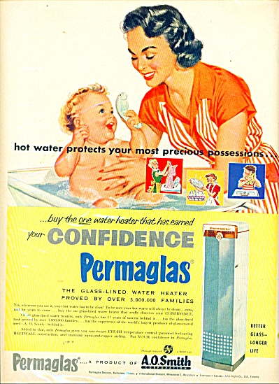 Permaglas water heaters ad 1956 (Image1)