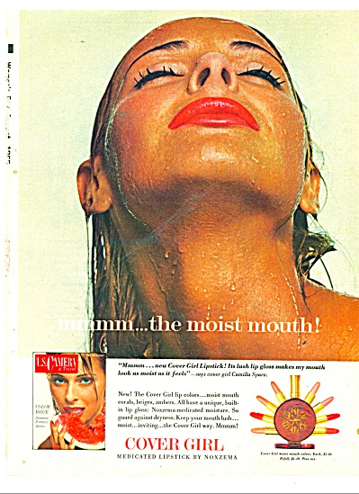 1965 COVER GIRL CAMILLA SPARV MODEL AD MMMMMM (Image1)