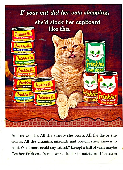 Friskies cat food ad 1965 (Image1)