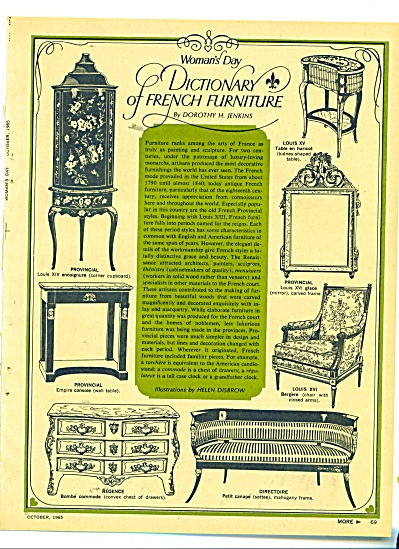 1965 FRENCH FURNITURE DICTONARY 8 pg (Image1)