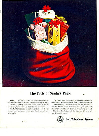 Bell Telephone system ad 1965 PINK CHRISTMAS (Image1)