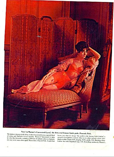 1962 Warners Lycra girdle ad PEACOCK PINK (Image1)