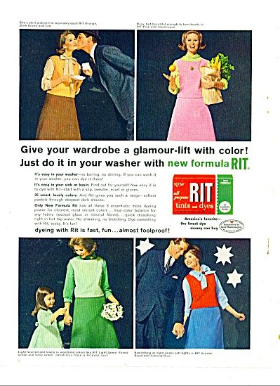 1962 RIT DYE AD Beautiful MODEL in 4 pics (Image1)
