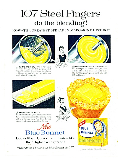 Blue Bonnet Margarine Ad 1962