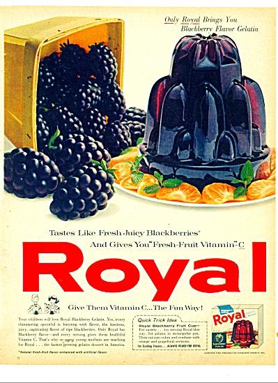 Royal blackberry flavor gelatin ad 1961 (Image1)