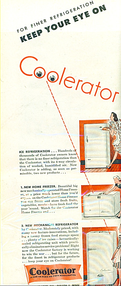 Coolerator refrigeration - freezer ad 1944 (Image1)