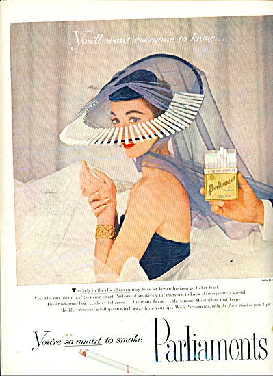 Parliaments Cigarettes Ad Mr. John Hat
