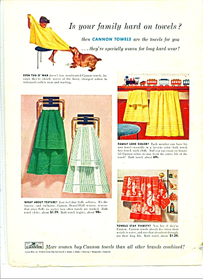 Cannon towels ad 1954 (Image1)