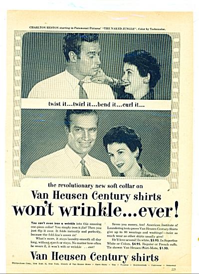 Van Heusen centruy shirts - CHARLETON HESTON (Image1)