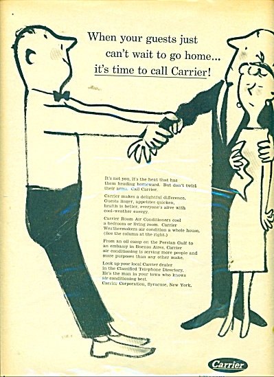 Carrier air conditioning ad 1956 (Image1)