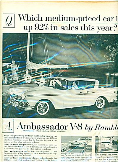 Ambassador V-8 by Rambler ad 1959 (Image1)