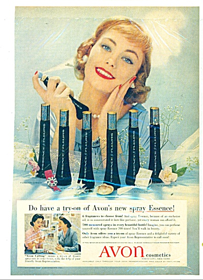 Avon Cosmetics ad 1958 SIX FRAGRANCES (Image1)