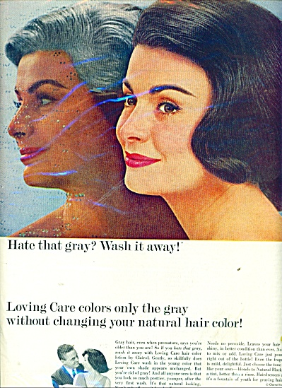 Loving car hair color lotion by Clairol ad (Image1)