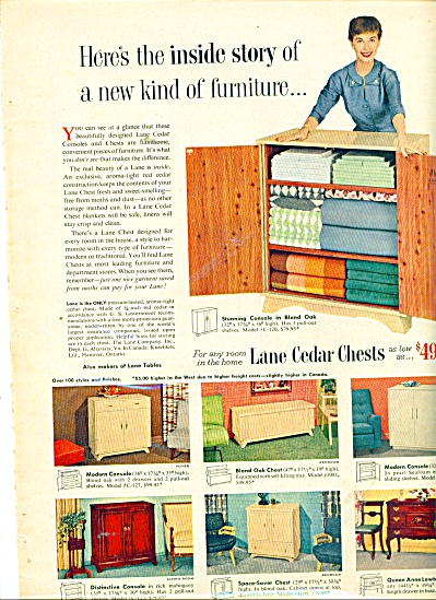 Lane Cedar Chests Ad 1954