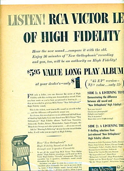 Rca Victor High Fidelity Ad