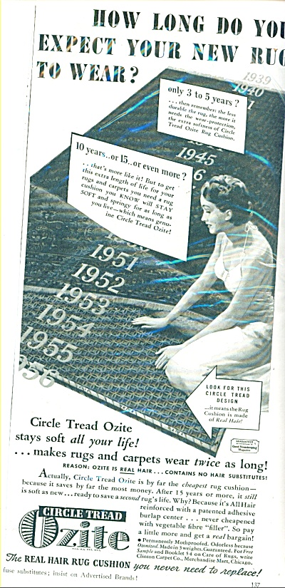 Ozite - Real hair rug cushion ad (Image1)