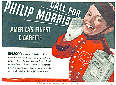 Call for Philip Morris Cigarette AD JOHNNY (Image1)