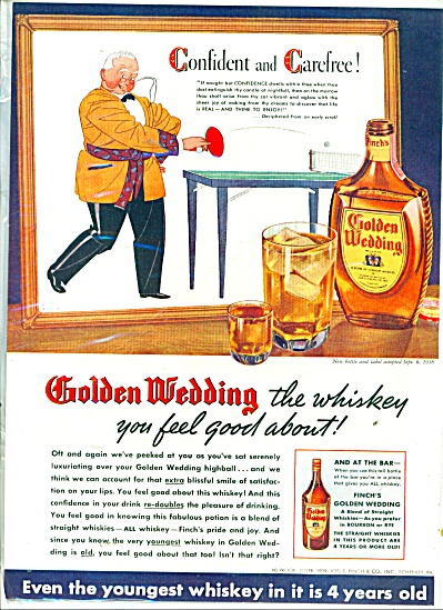 Golden Wedding  Straight whiskey ad (Image1)