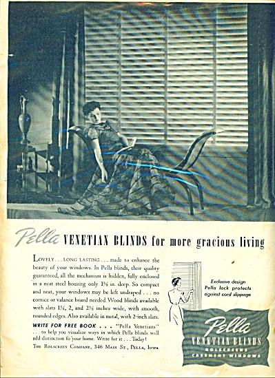 Pella Venetian blinds ad 1946 (Image1)