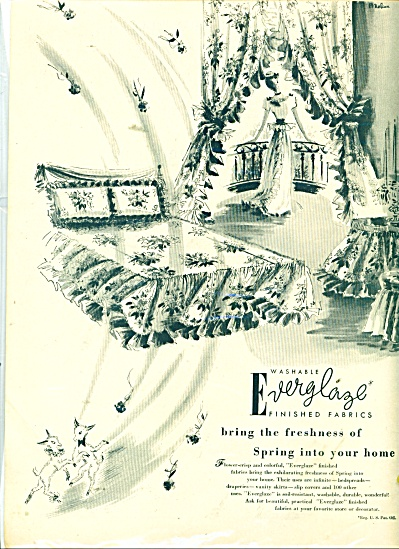 Everglaze finished fabrics ad 1946 (Image1)
