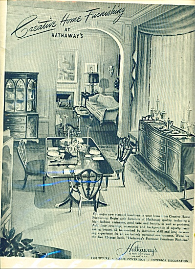 Hathaway's furniture -floor coverings ad 1946 (Image1)