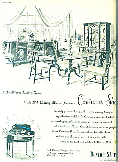 1946 Boston Store of Milwaukee FURNITURE AD (Image1)