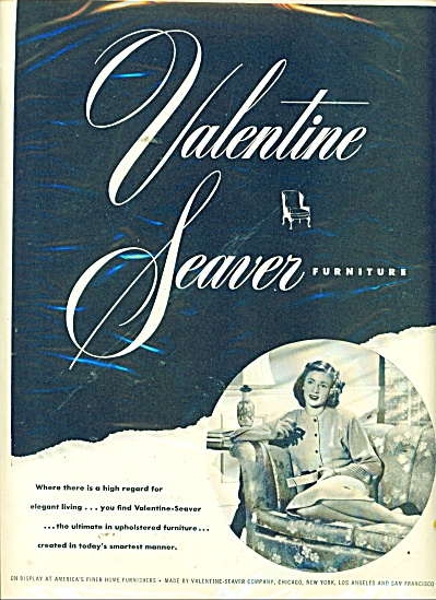 Valentine Seaver furniture ad 1946 (Image1)