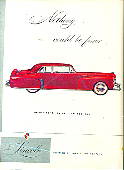 Lincoln Continental ad 1946 (Image1)