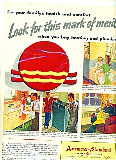 American Standard heating - plumbing ad 1946 (Image1)