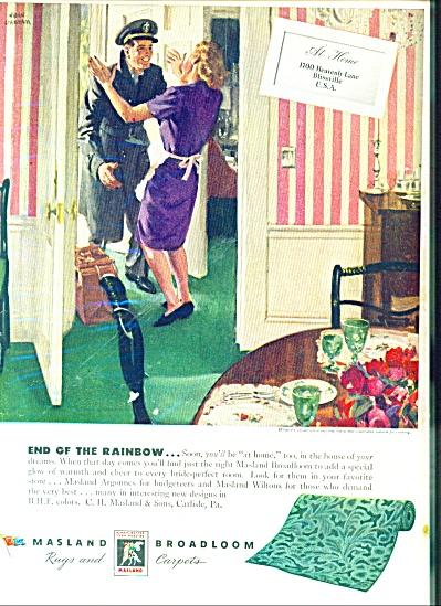 1946 JOHN GANNAM Masland AD SOLDIER HOME (Image1)