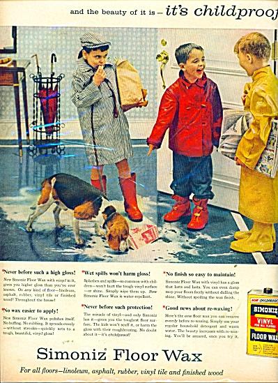Simoniz vinyl floor wax ad 1957 (Image1)