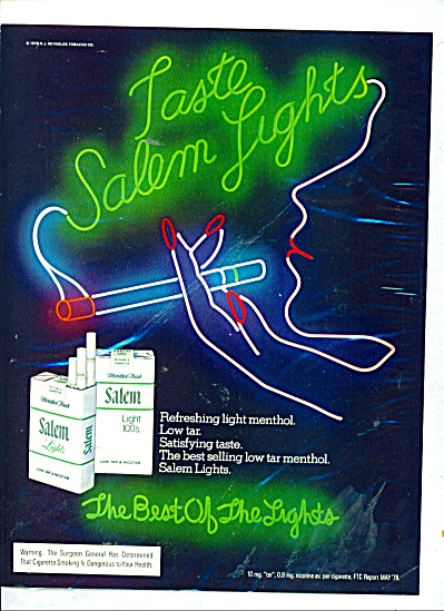 Salem cigarettes ad 1980 NEON (Image1)