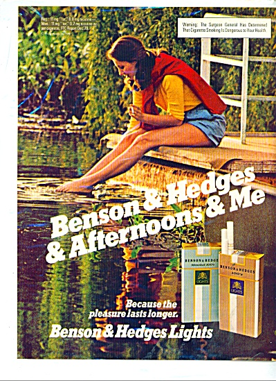 1981 Benson & Hedges Cigarette Ad