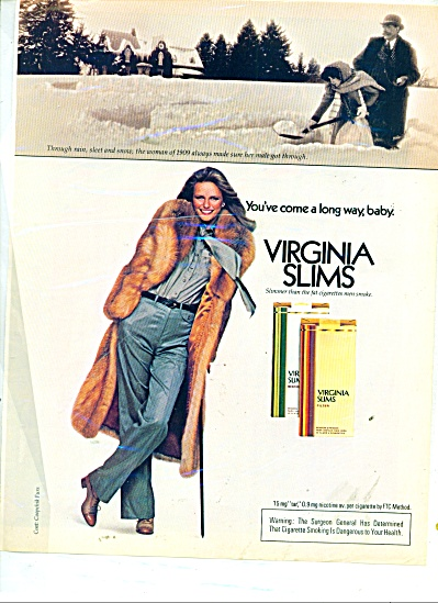 Virginia Slims ad  - 1980 CHERYL TIEGS (Image1)