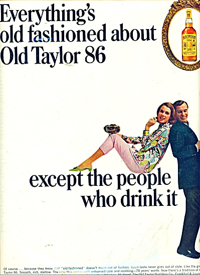 Old Taylor Kentucky Whiskey AD Fashion Model (Image1)