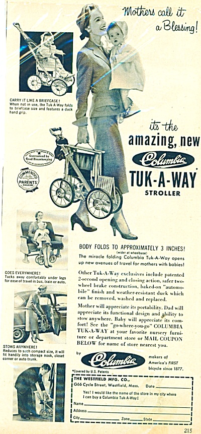 Columbia - Tuk-a-way stroller ad (Image1)