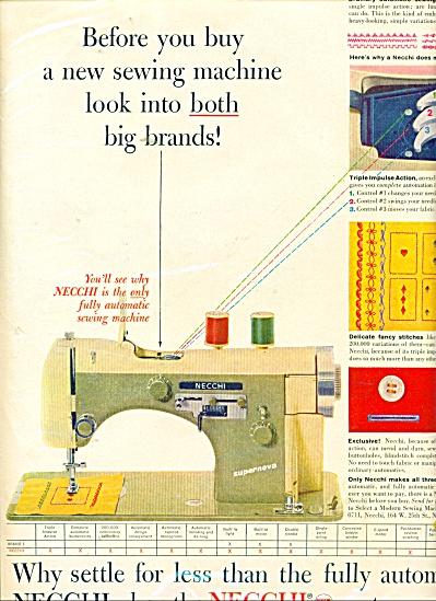 Necchi sewing machines ad 1957 (Image1)