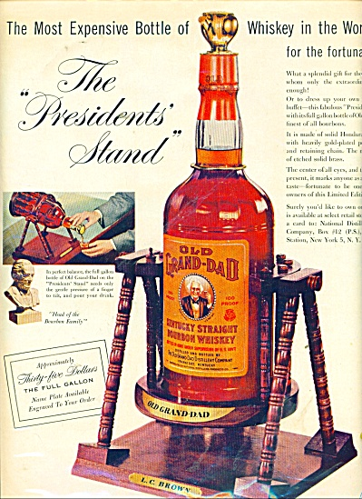 Old Grand-Dad kentucky bourbon whiskey 1957 (Image1)