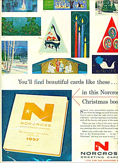 Norcross greeting cards ad 1957 CHRISTMAS (Image1)